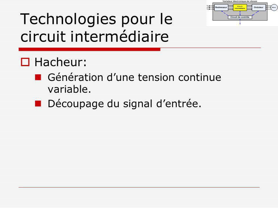 Technologies pour le circuit intermédiaire