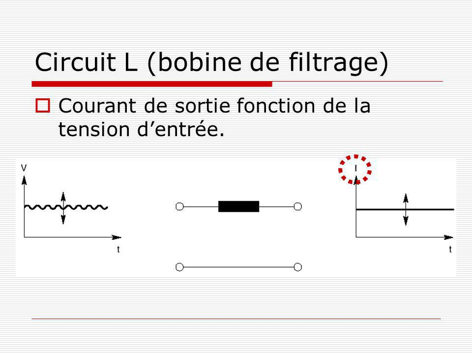 Circuit L (bobine de filtrage)