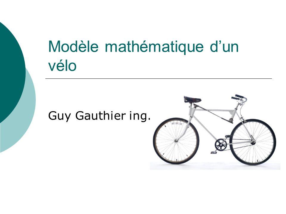 Modèle mathématique d'un vélo