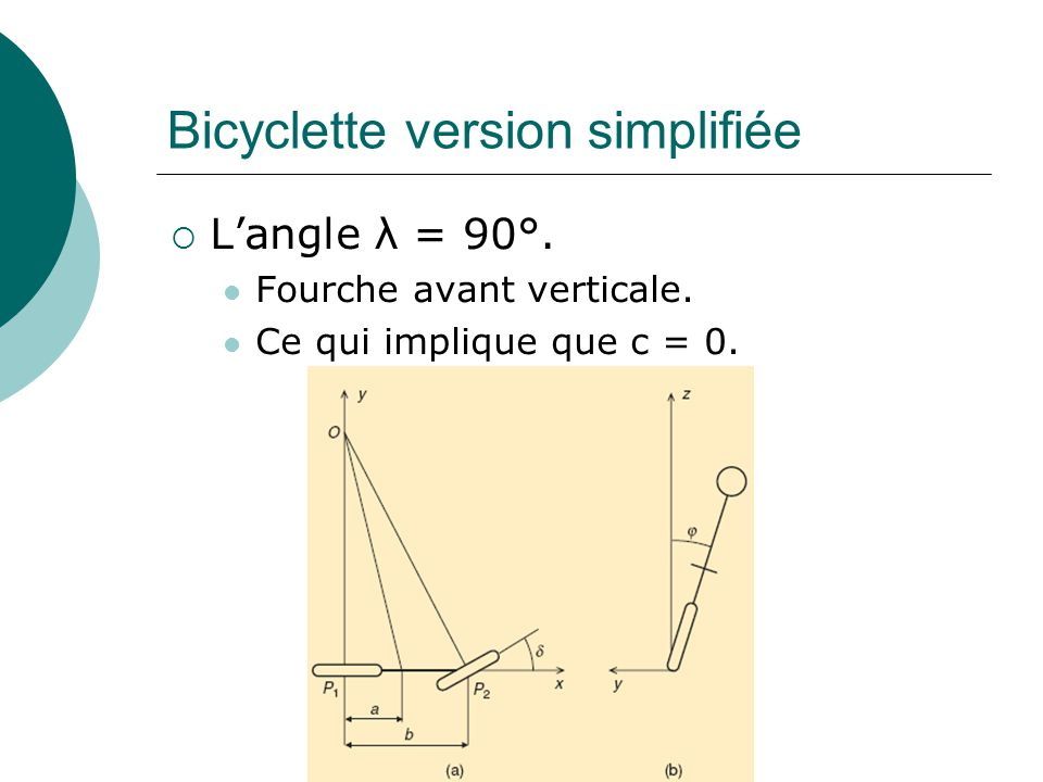 Bicyclette version simplifiée