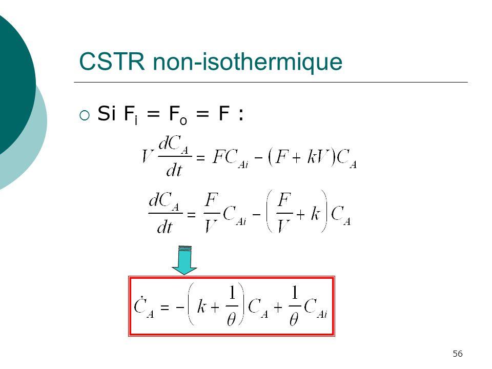 CSTR non-isothermique