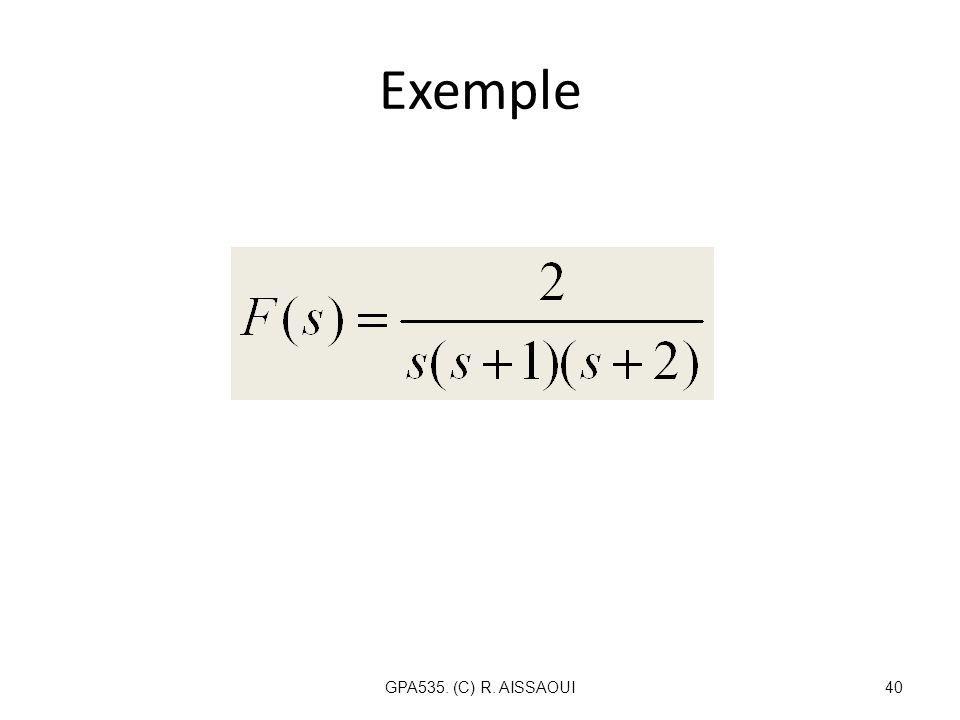 Exemple GPA535. (C) R. AISSAOUI