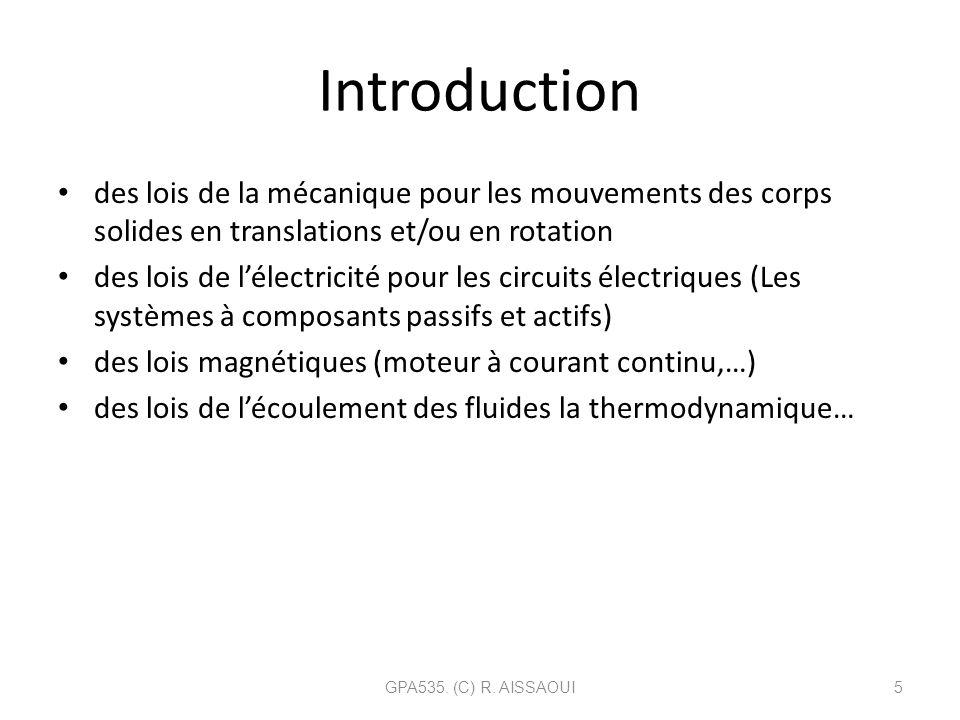 Introduction des lois de la mécanique pour les mouvements des corps solides en translations et/ou en rotation.