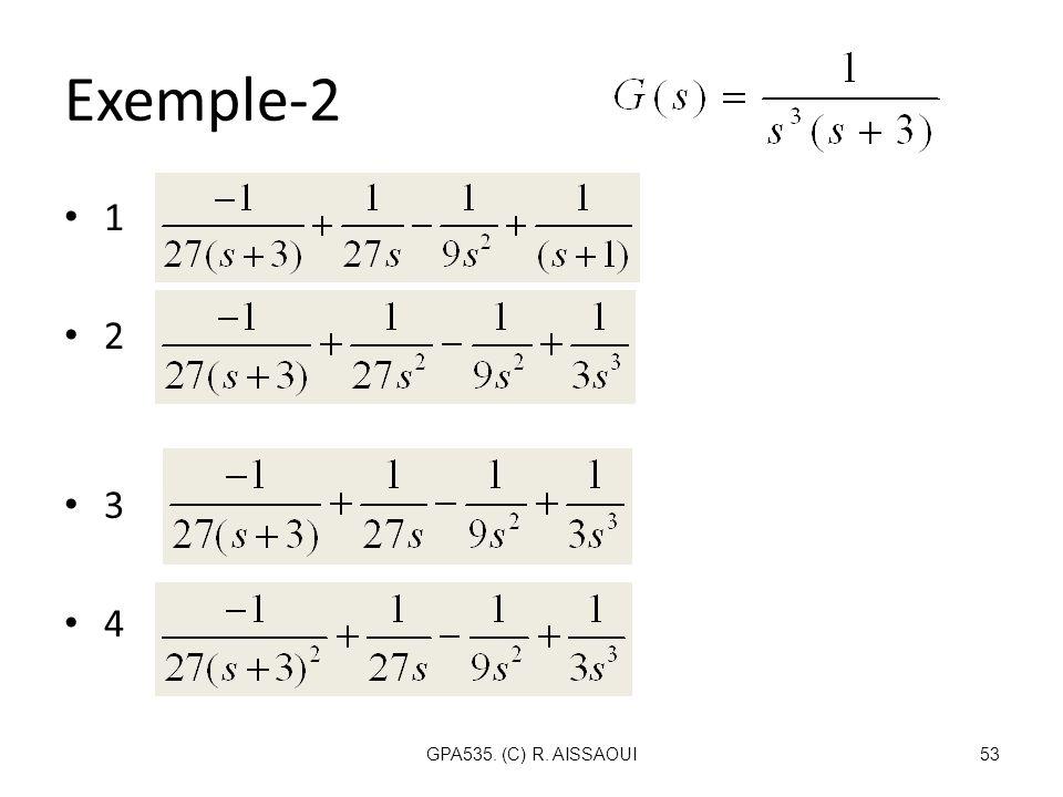 Exemple-2 1 2 3 4 GPA535. (C) R. AISSAOUI