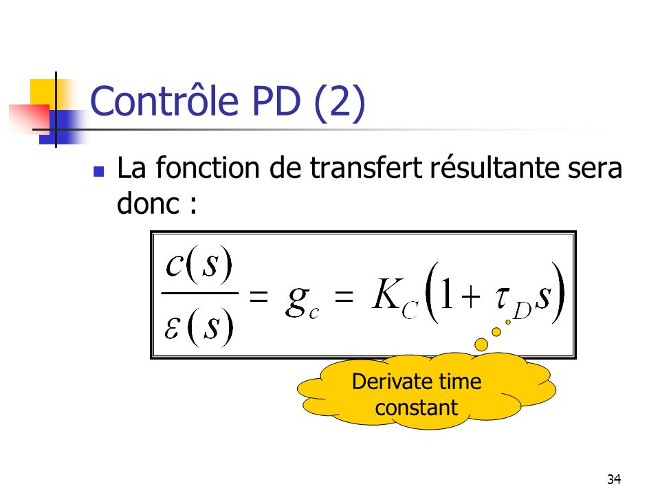 Derivate time constant