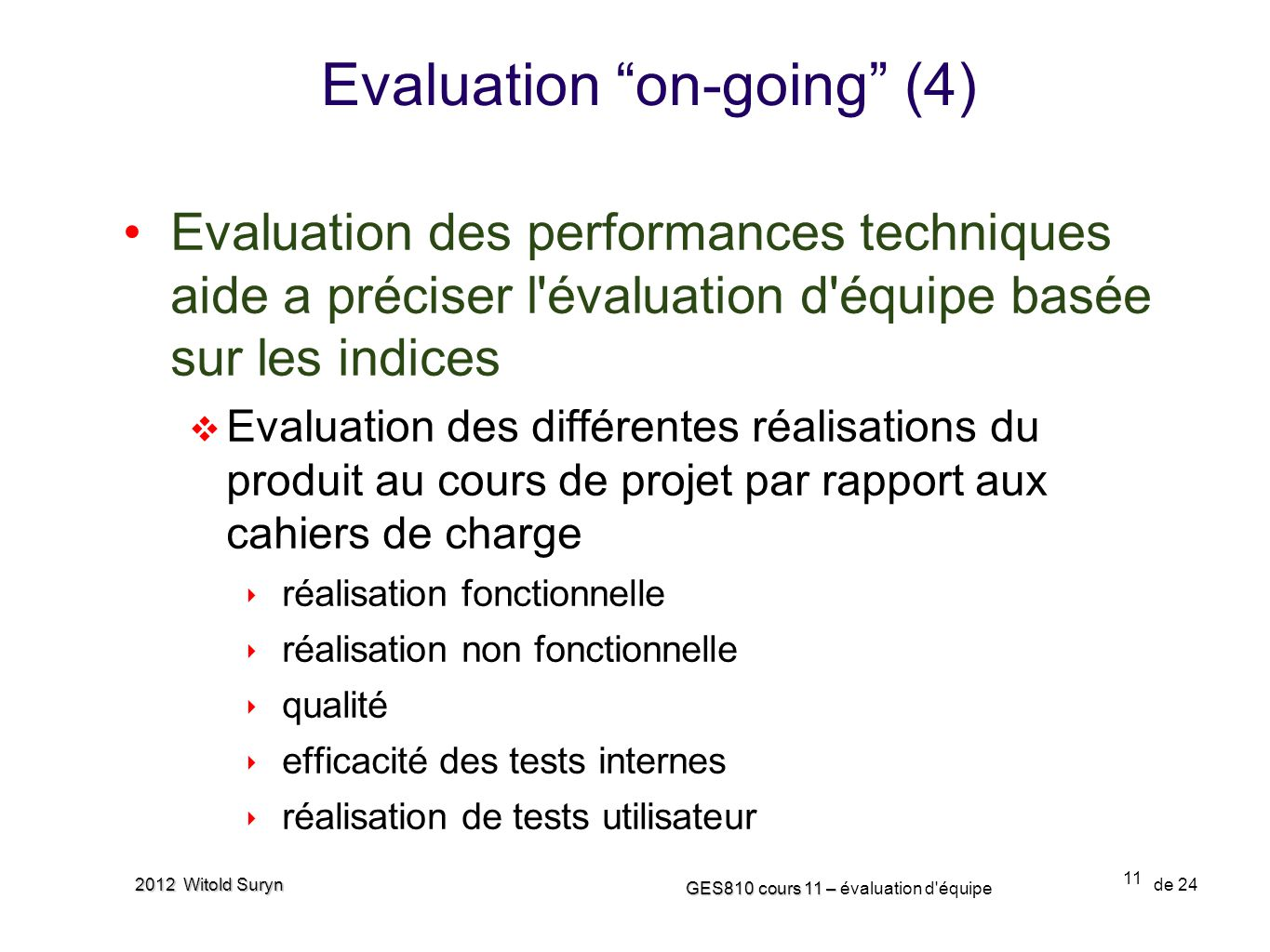 Evaluation on-going (4)
