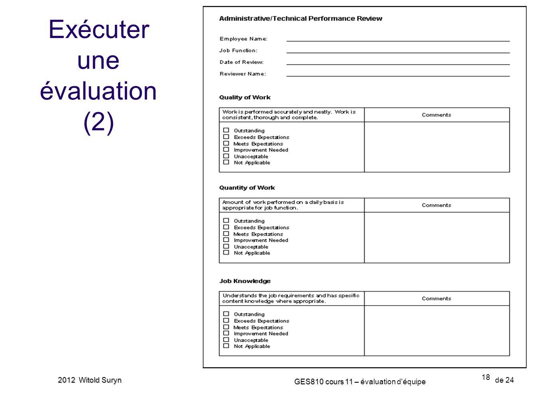 Exécuter une évaluation (2)
