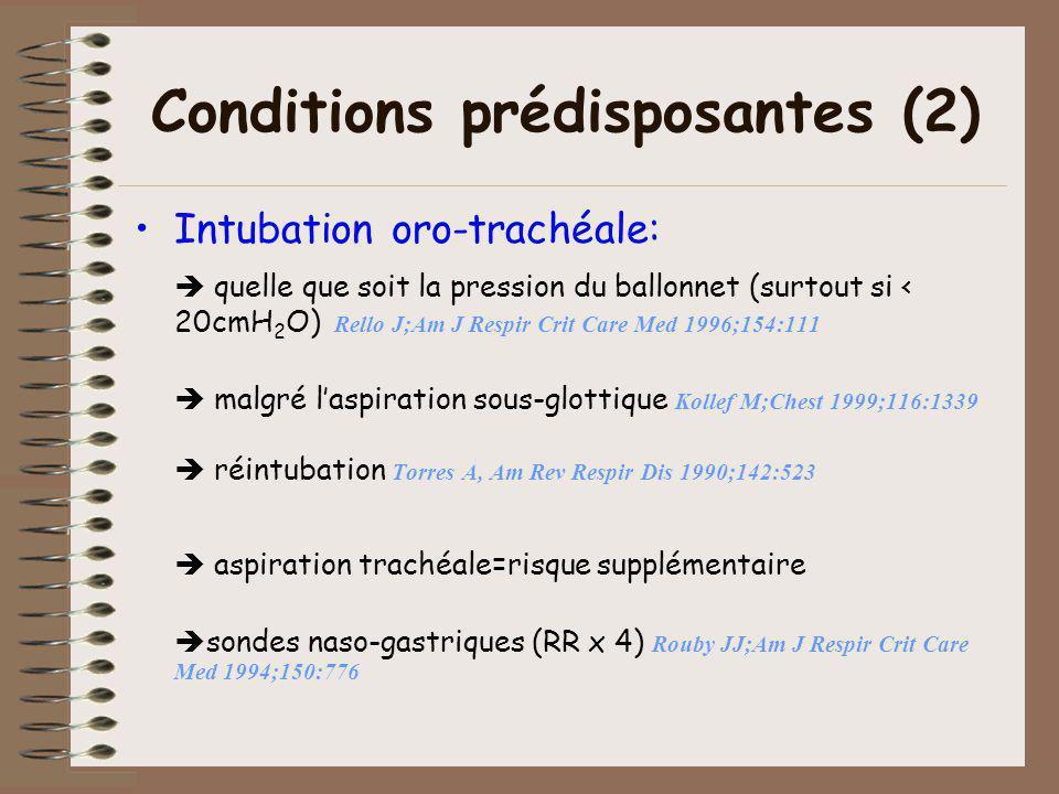 Conditions prédisposantes (2)