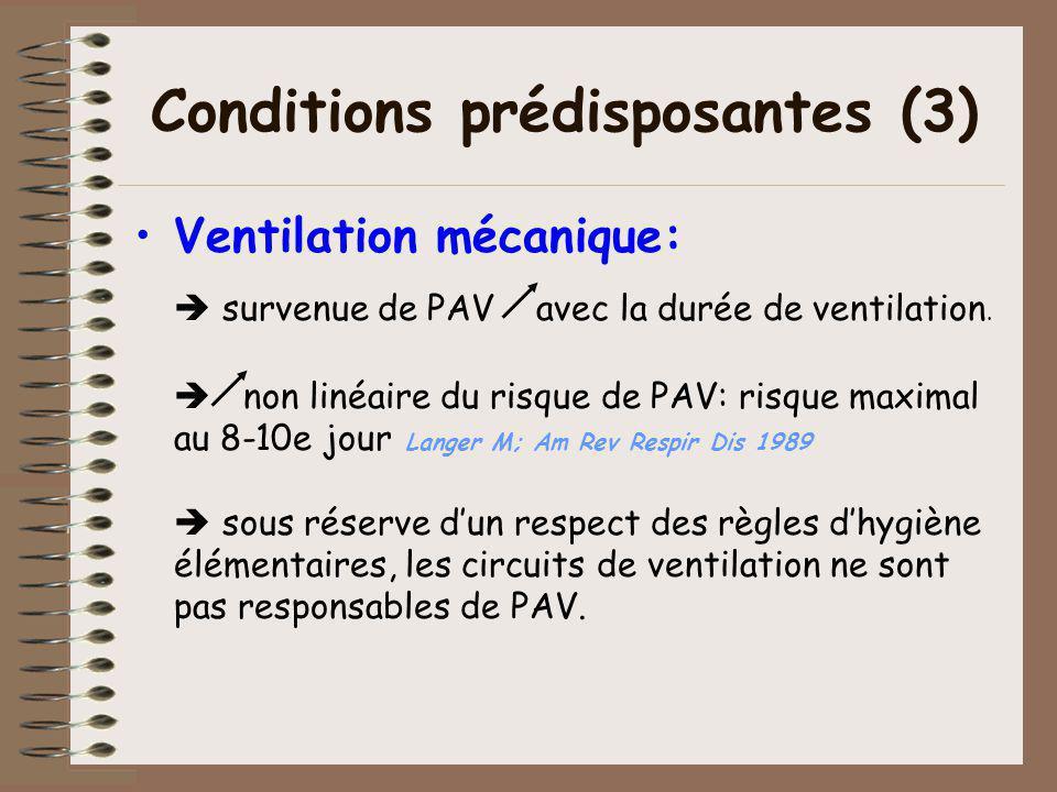 Conditions prédisposantes (3)