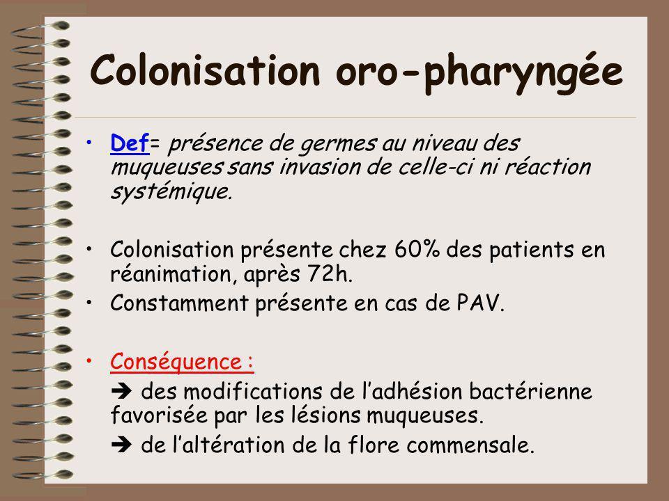 Colonisation oro-pharyngée