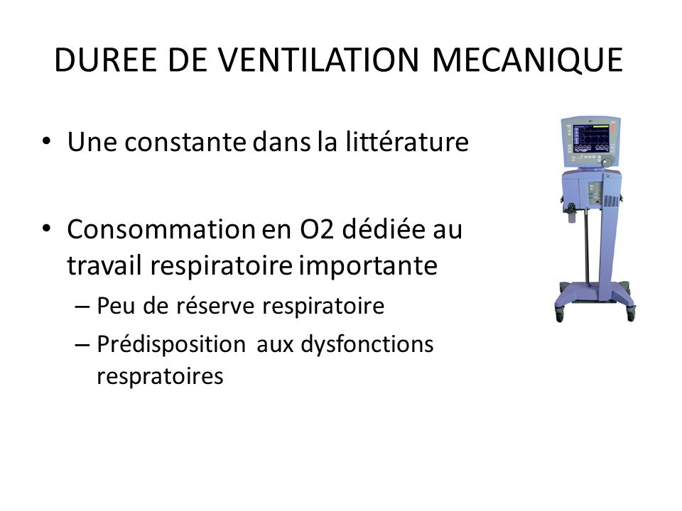 DUREE DE VENTILATION MECANIQUE