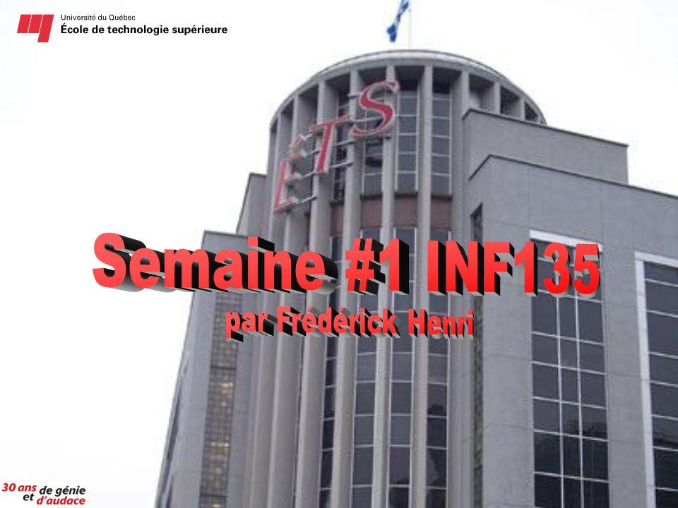 Semaine #1 INF135 par Frédérick Henri