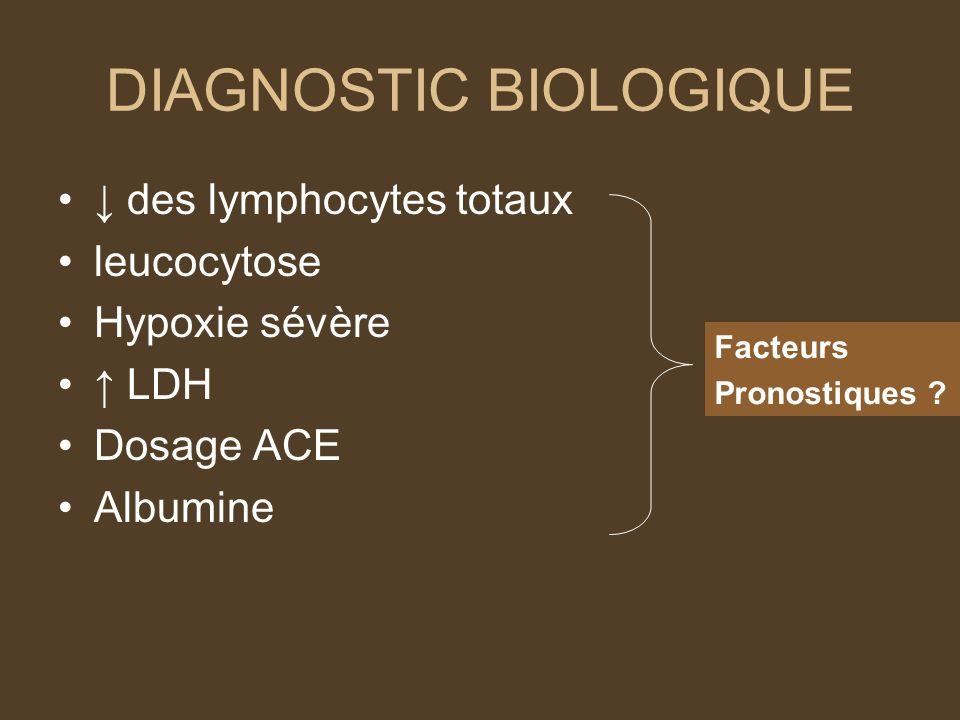DIAGNOSTIC BIOLOGIQUE
