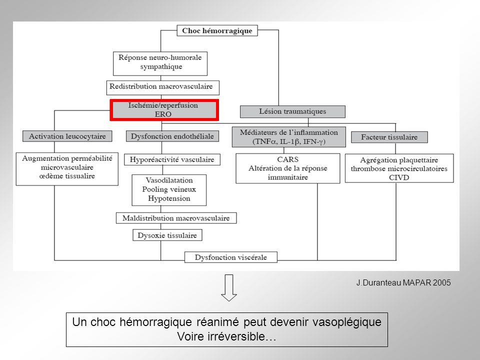 Un choc hémorragique réanimé peut devenir vasoplégique