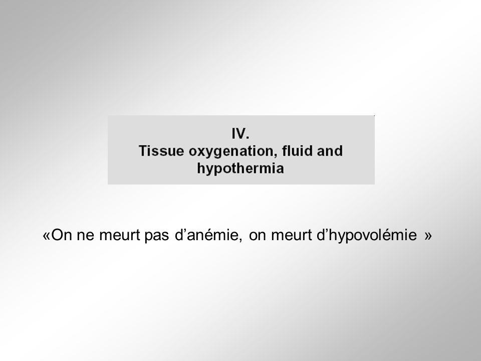 «On ne meurt pas d'anémie, on meurt d'hypovolémie »