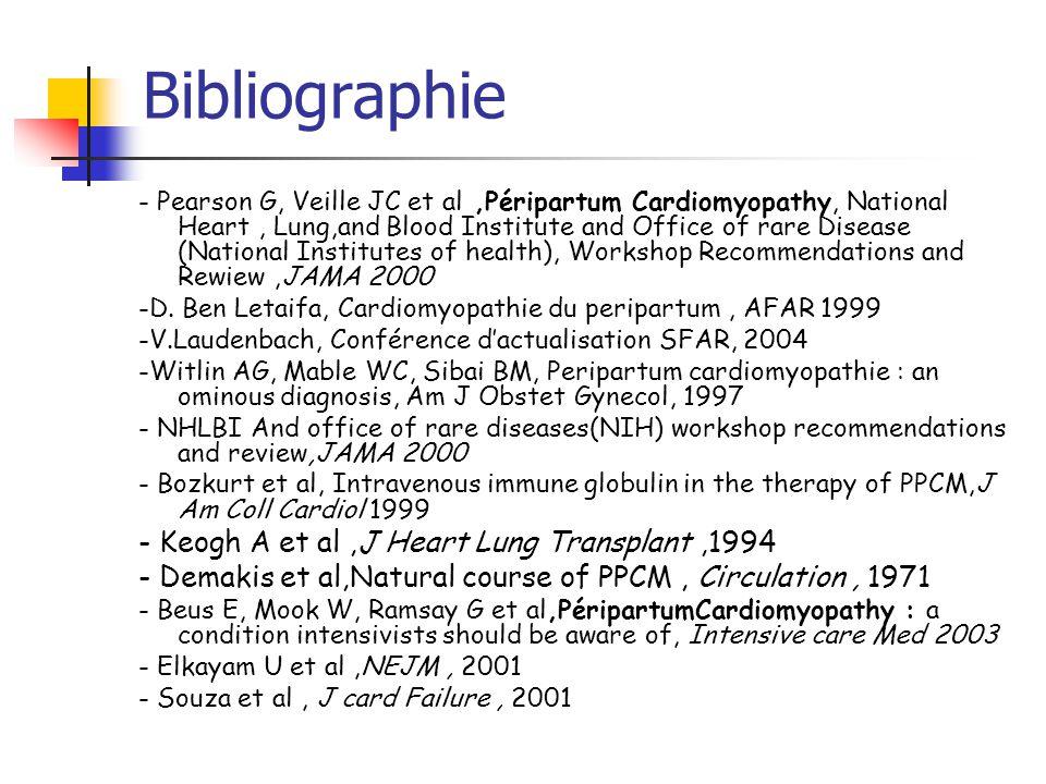 Bibliographie - Keogh A et al ,J Heart Lung Transplant ,1994