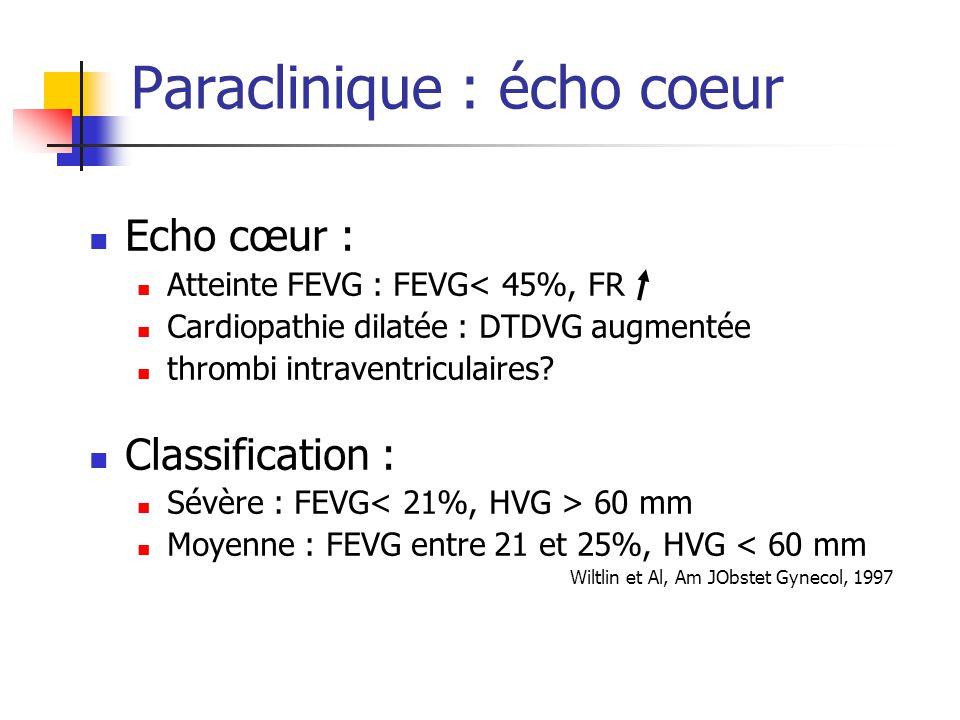Paraclinique : écho coeur