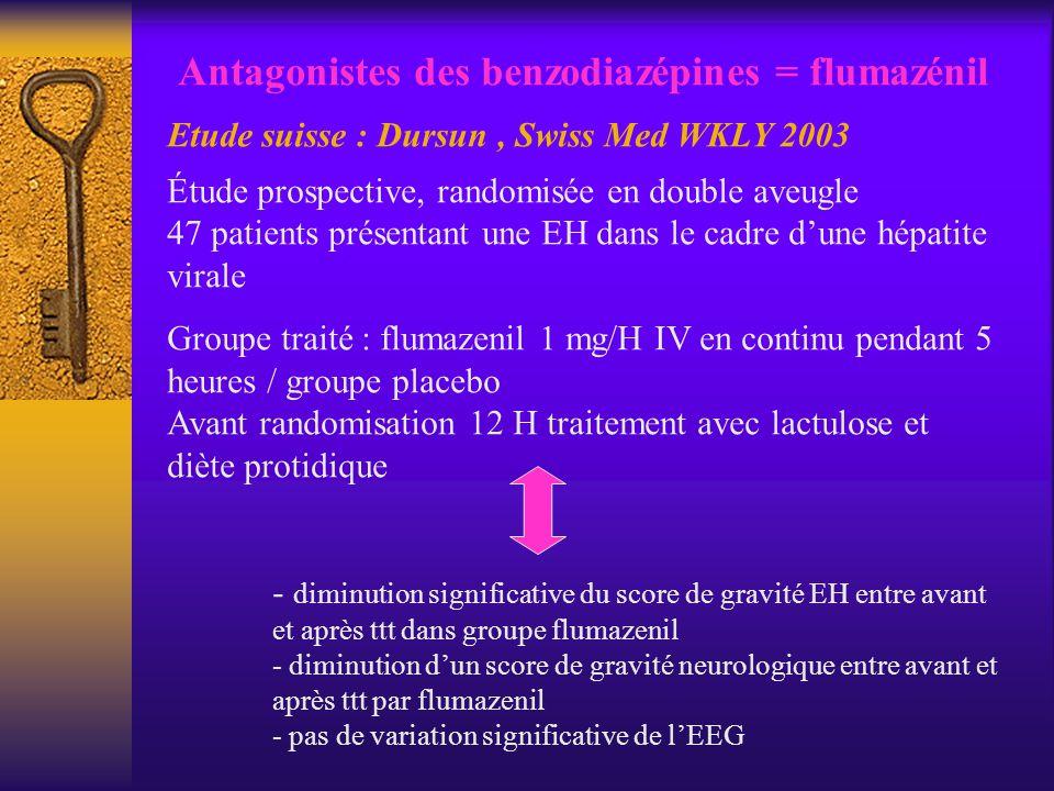 Antagonistes des benzodiazépines = flumazénil