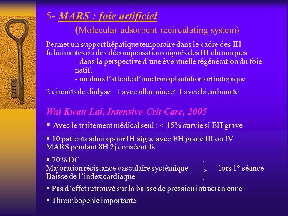 - MARS : foie artificiel (Molecular adsorbent recirculating system)