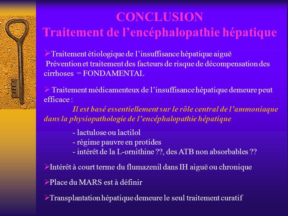 Traitement de l'encéphalopathie hépatique