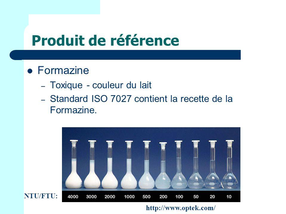 Produit de référence Formazine Toxique - couleur du lait