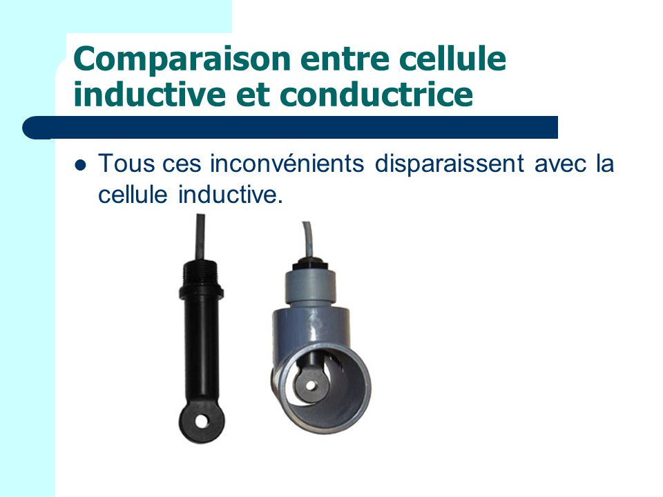 Comparaison entre cellule inductive et conductrice