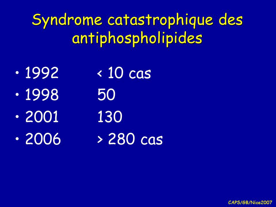 Syndrome catastrophique des antiphospholipides