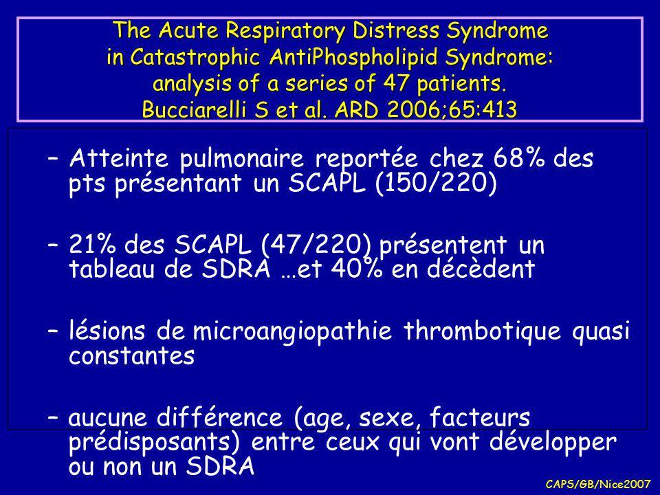 lésions de microangiopathie thrombotique quasi constantes