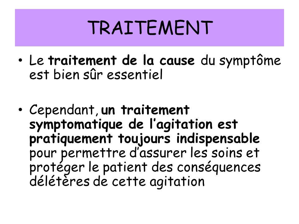 TRAITEMENT Le traitement de la cause du symptôme est bien sûr essentiel.
