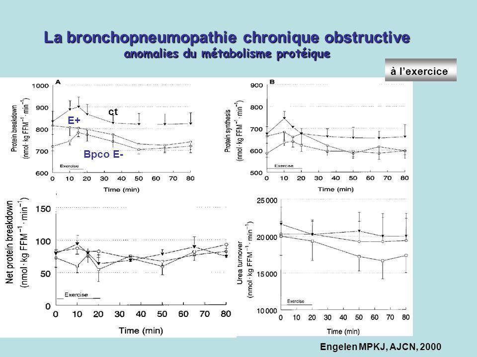 La bronchopneumopathie chronique obstructive anomalies du métabolisme protéique