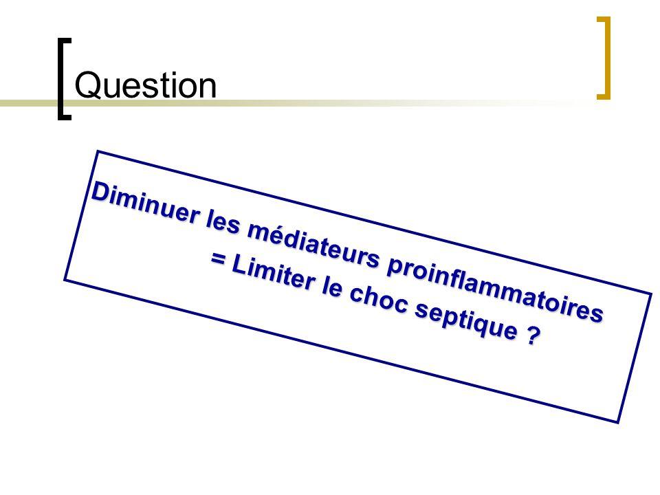 Question Diminuer les médiateurs proinflammatoires