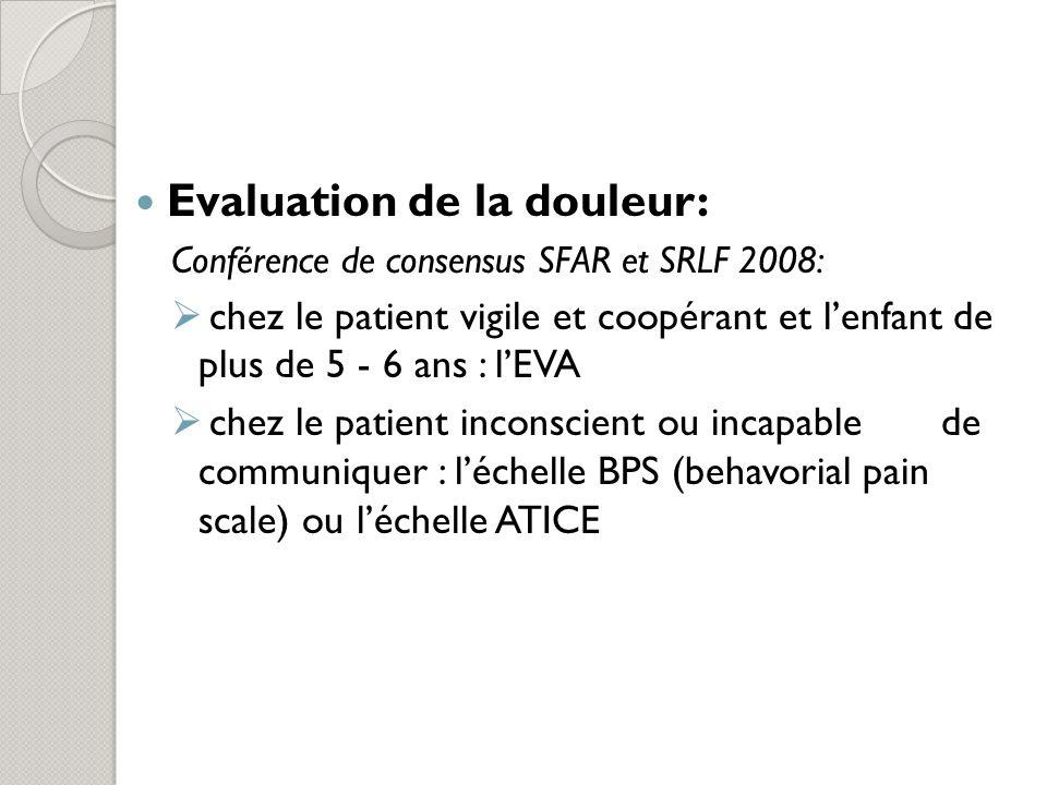 Evaluation de la douleur: