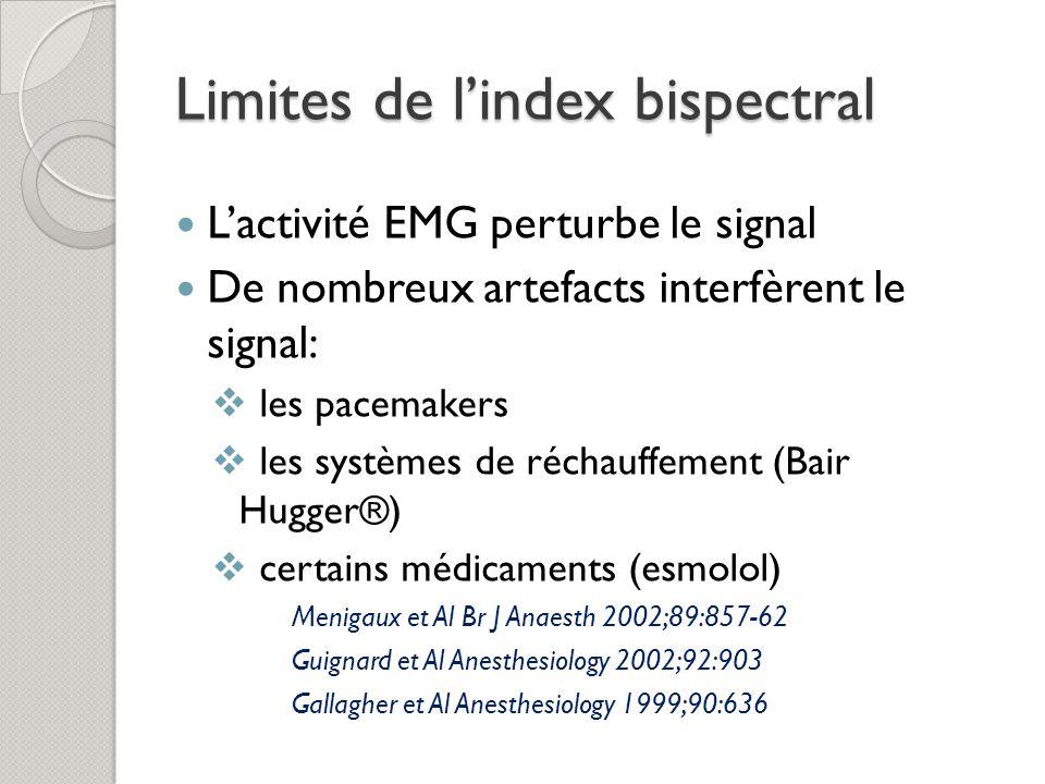 Limites de l'index bispectral