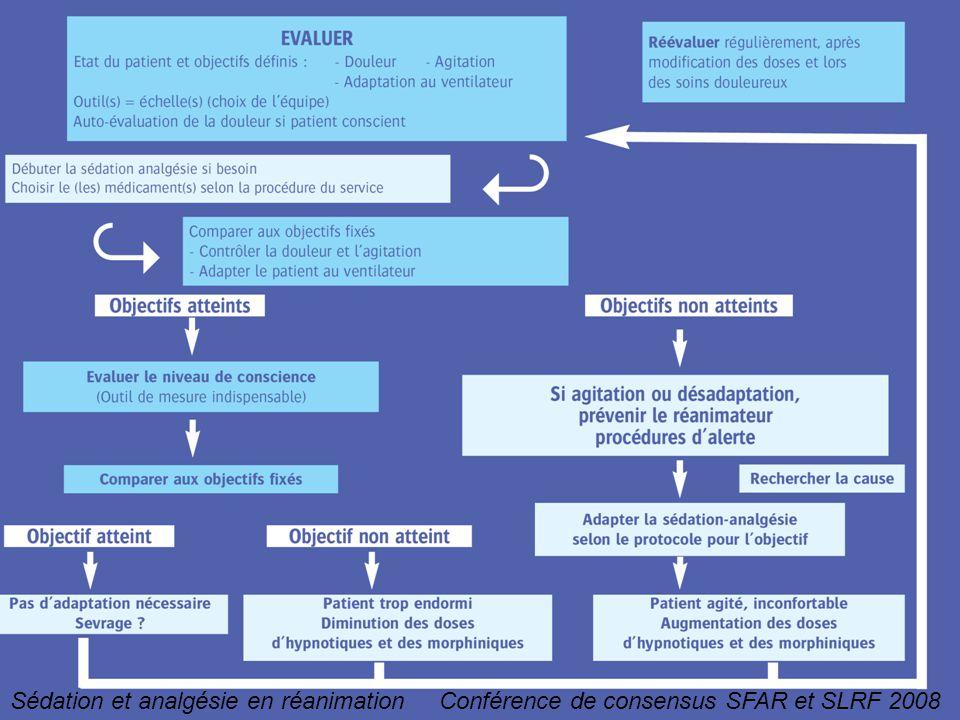 Sédation et analgésie en réanimation Conférence de consensus SFAR et SLRF 2008