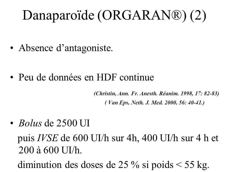 Danaparoïde (ORGARAN®) (2)