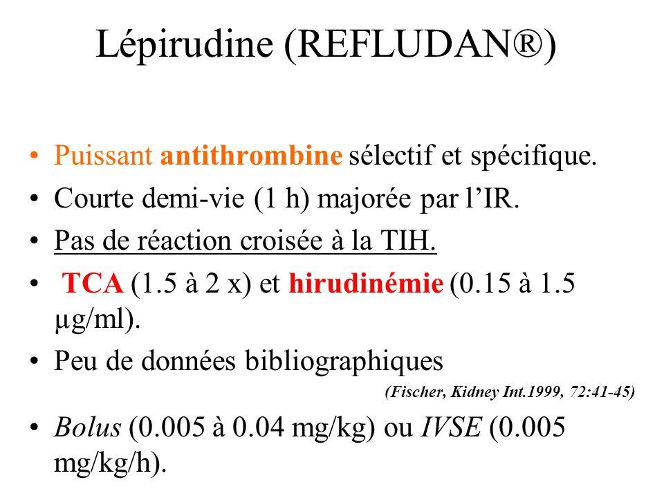 Lépirudine (REFLUDAN®)