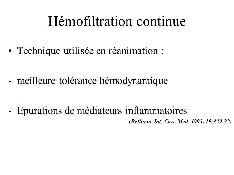 Hémofiltration continue