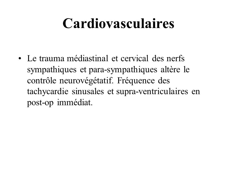 Cardiovasculaires