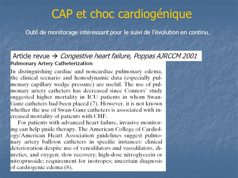 CAP et choc cardiogénique