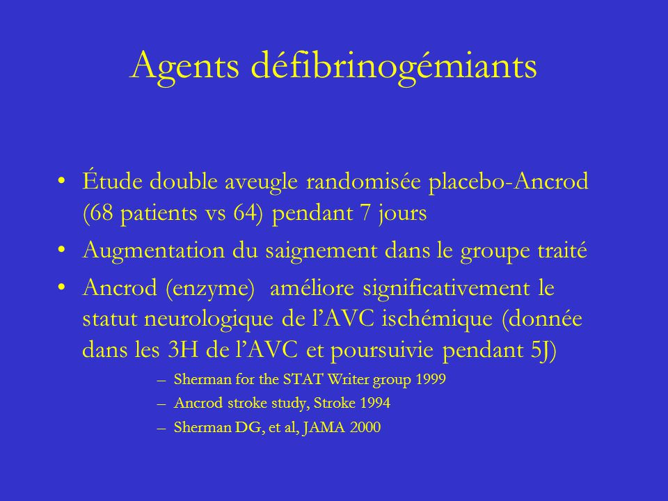 Agents défibrinogémiants