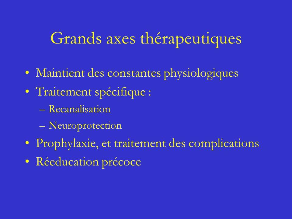 Grands axes thérapeutiques