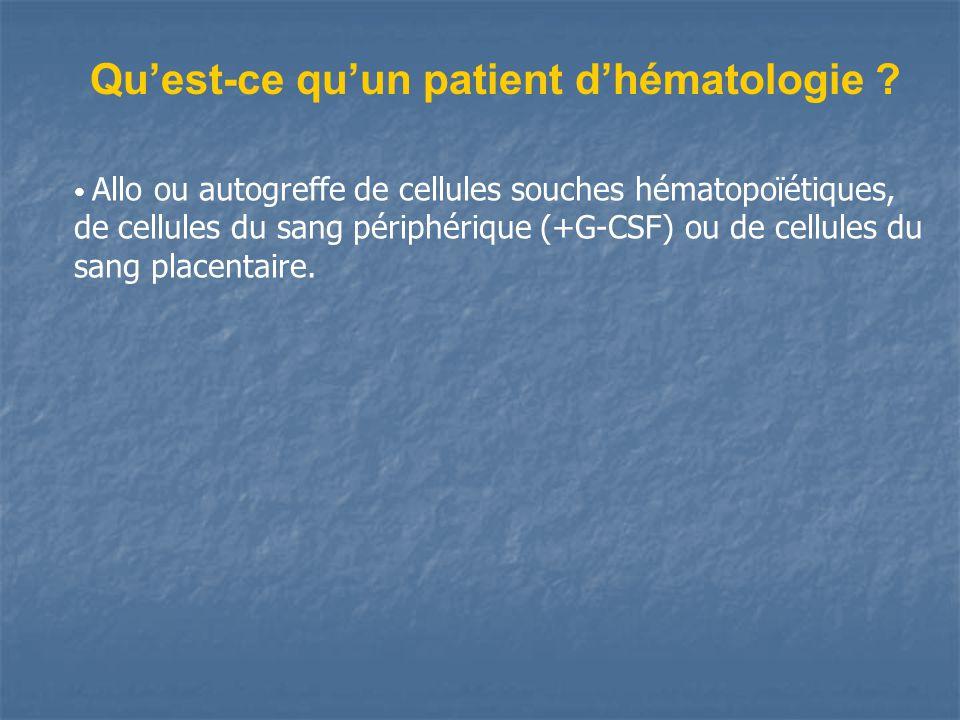 Qu'est-ce qu'un patient d'hématologie