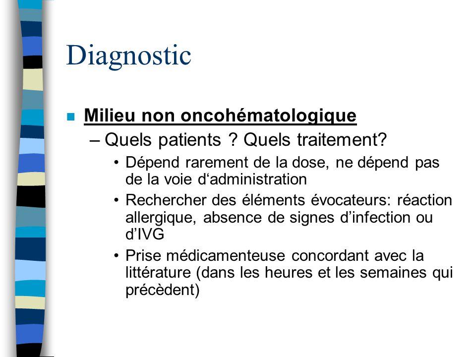 Diagnostic Milieu non oncohématologique