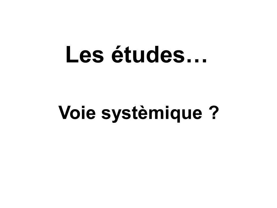 Les études… Voie systèmique