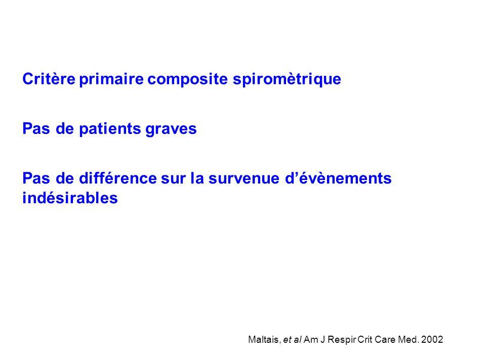 Critère primaire composite spiromètrique
