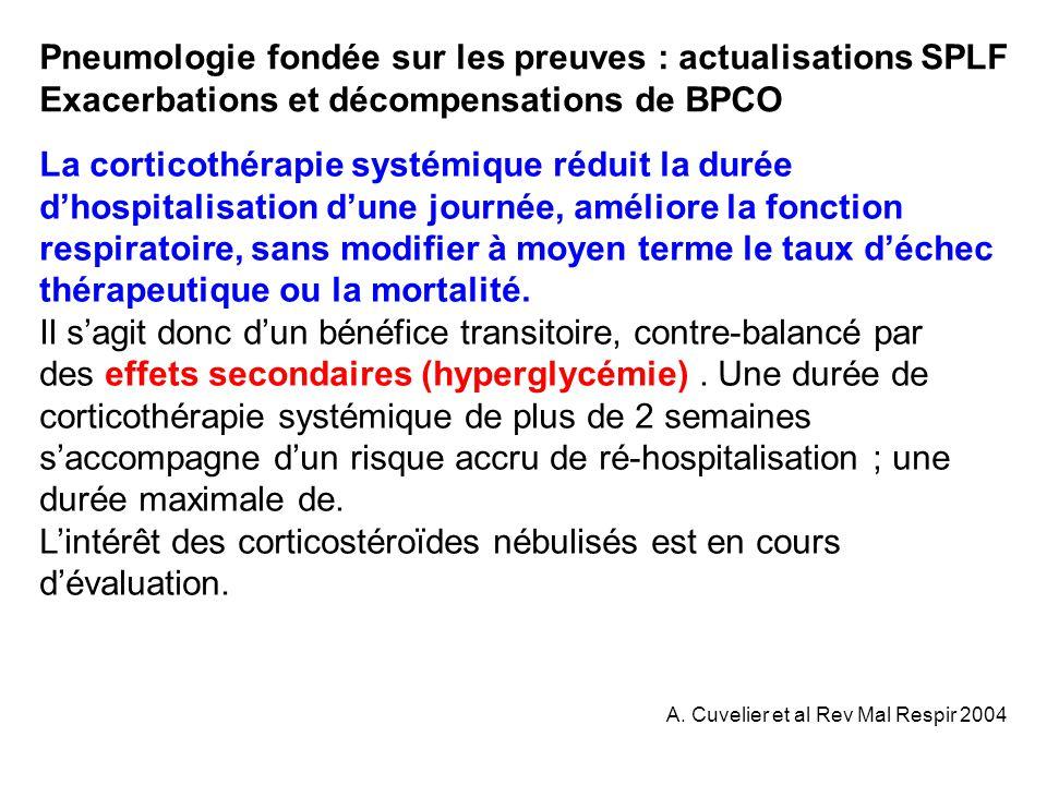 Pneumologie fondée sur les preuves : actualisations SPLF