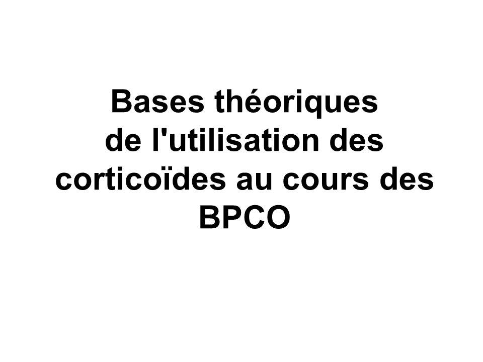 de l utilisation des corticoïdes au cours des BPCO