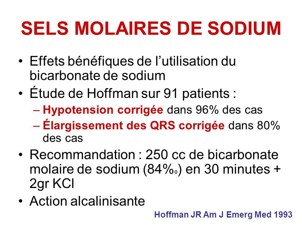 SELS MOLAIRES DE SODIUM