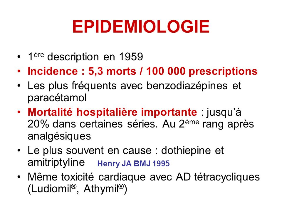 EPIDEMIOLOGIE 1ère description en 1959