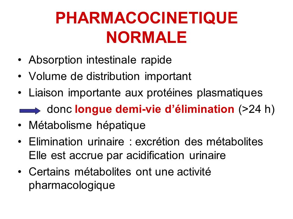 PHARMACOCINETIQUE NORMALE